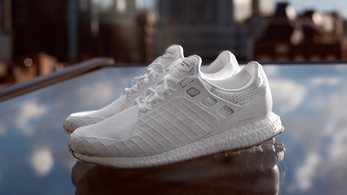 228ae0cb1c352 White PDS Ultra Boost Trainers. The hugely successful partnership between  German designer Porsche ...