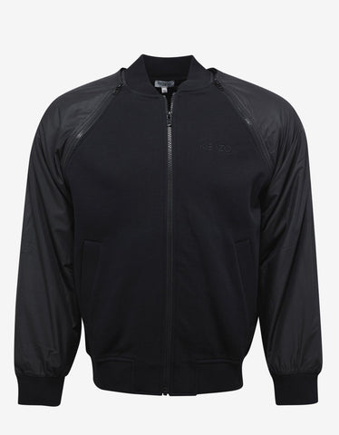 Black Contrast Stripes Track Jacket