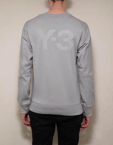 Y-3 Light Grey Y-3 Print Sweatshirt