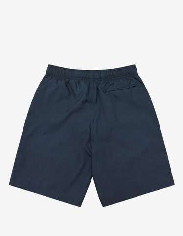 Givenchy Oil Blue Classic Logo Long-Length Swim Shorts