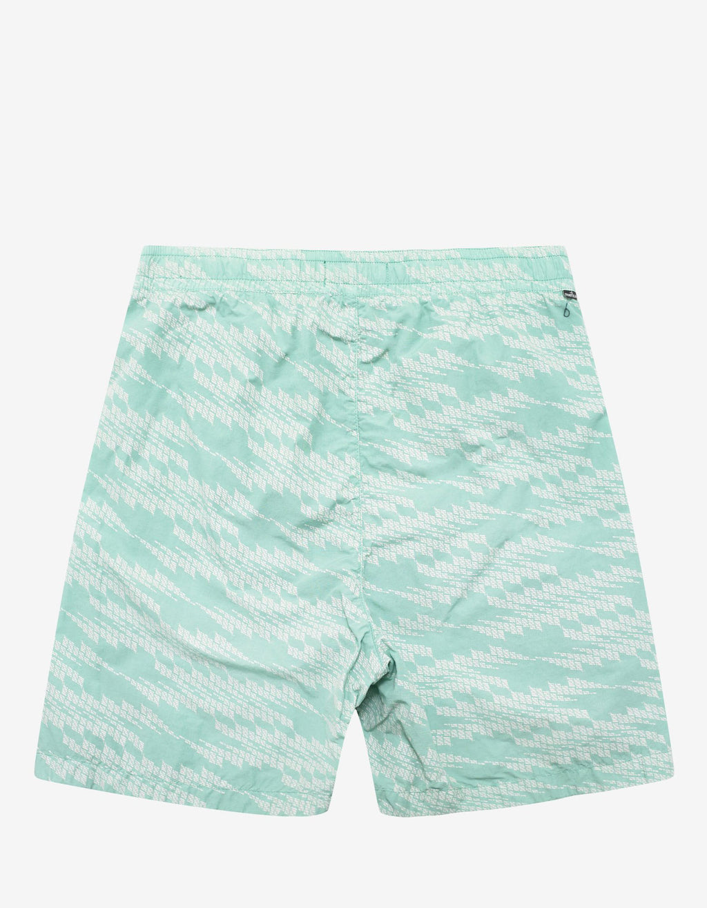 Turquoise Glitch Print Swim Shorts