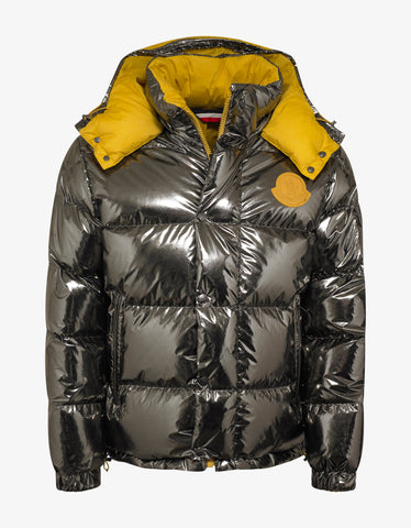 2 Moncler 1952 Prele Mirrored Nylon Reversible Down Jacket