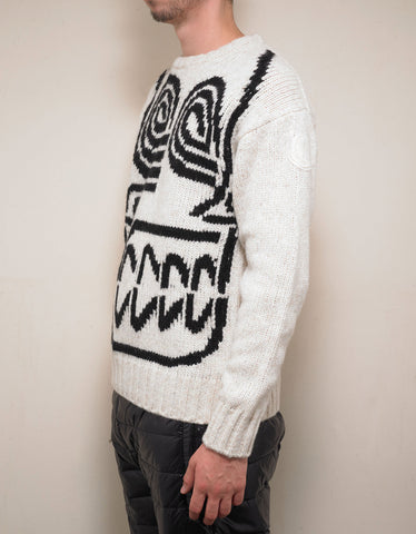 2 Moncler 1952 Off-White Rostarr Skull Sweater