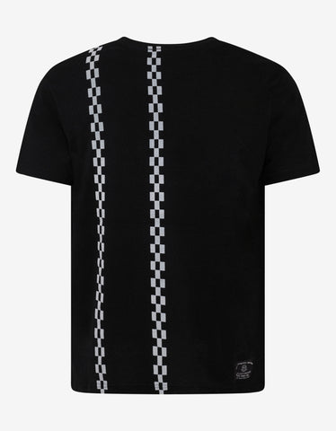 Black Checkered Graphic T-Shirt