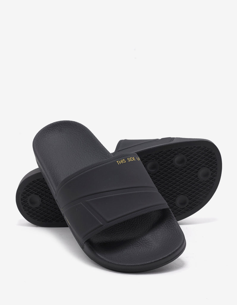 Adilette Bunny Black Slide Sandals