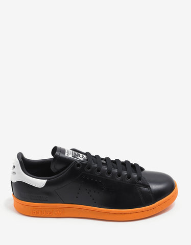 Adidas x Raf Simons Stan Smith Black & Orange Leather Trainers