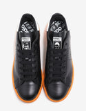 Stan Smith Black & Orange Leather Trainers