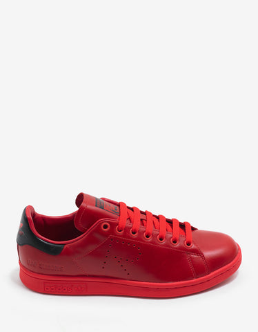 Adidas x Raf Simons Stan Smith Red Leather Trainers