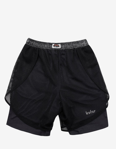 Adidas x Kolor Grey Climachill Shorts with Mesh Layer