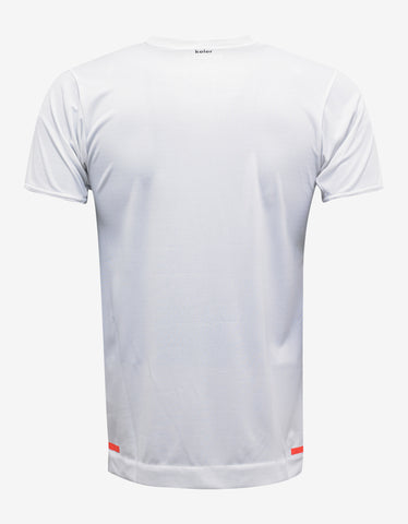 White Climachill Athlete Print T-Shirt