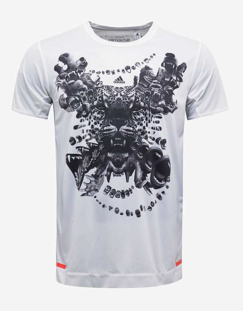 White Climachill Graphic Print T-Shirt