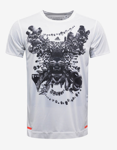 Adidas x Kolor White Climachill Graphic Print T-Shirt