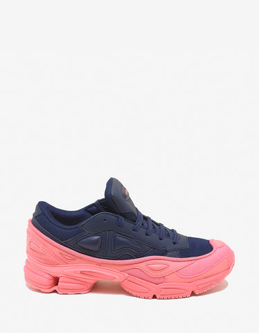 Adidas x Raf Simons Ozweego Navy Blue & Pink Trainers