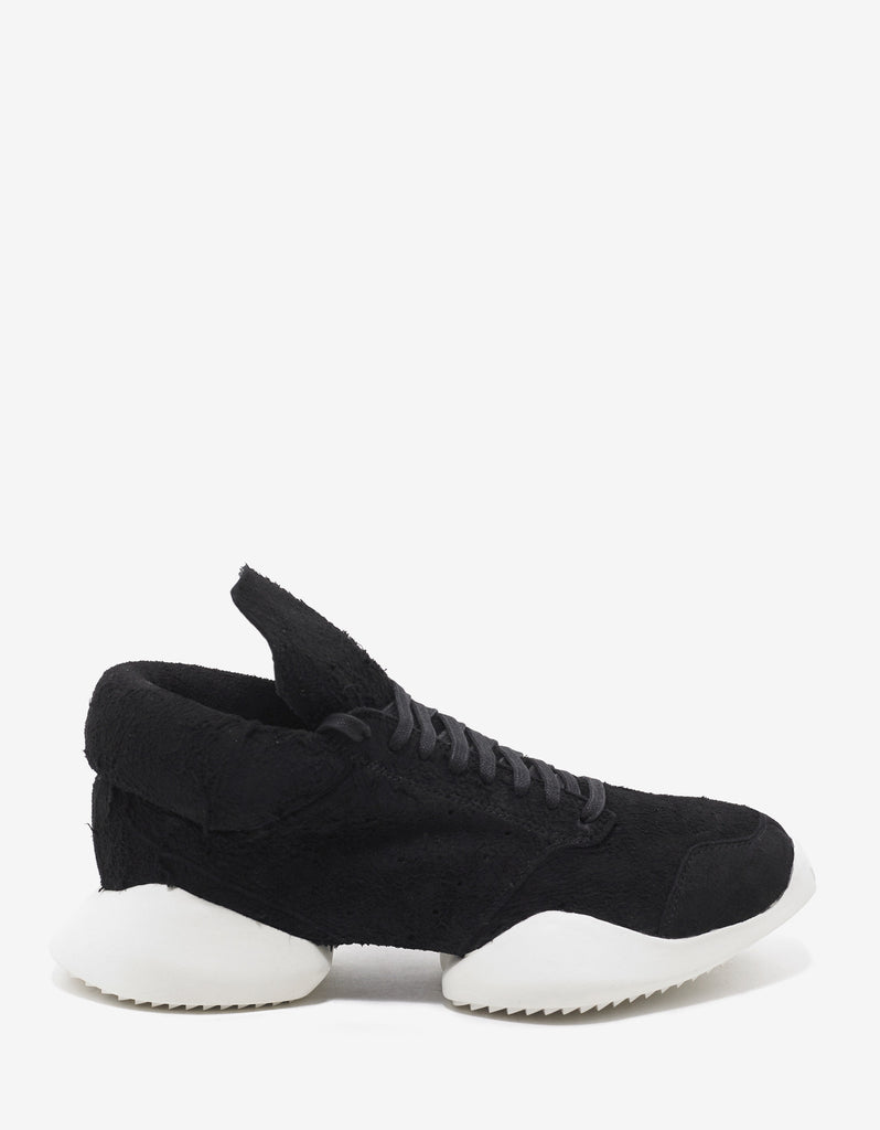 RO Vicious Runner Black Suede Leather Trainers