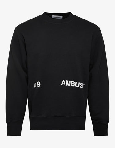 Ambush Black /19 Logo Print Sweatshirt