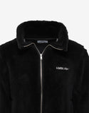 Black Wool Fleece Logo Jacket
