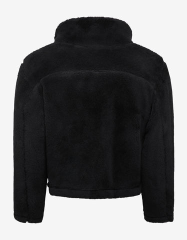 Ambush Black Wool Fleece Logo Jacket