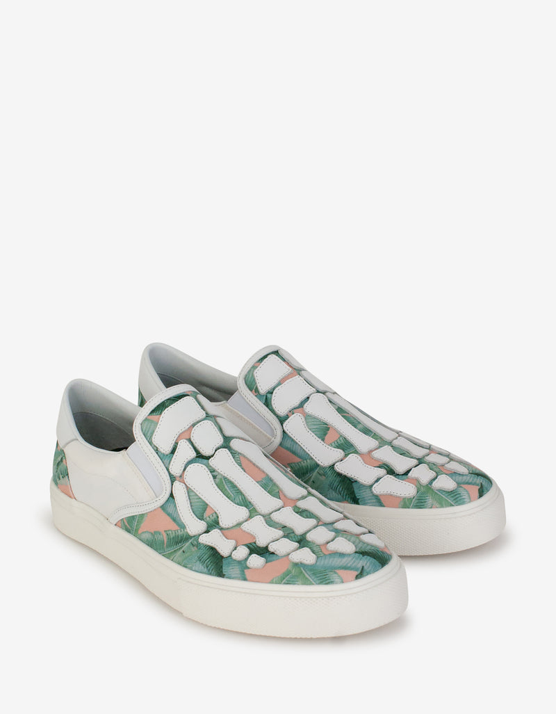 Banana Leaf Skel Toe Slip On Trainers
