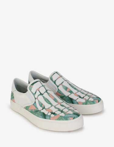 Andy Babycat Print Leather Trainers