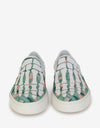 Banana Leaf Skel Toe Slip On Trainers -