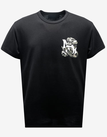 Black Tiger Print T-Shirt