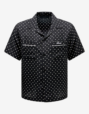 Black Polka Dots Short Sleeve Shirt