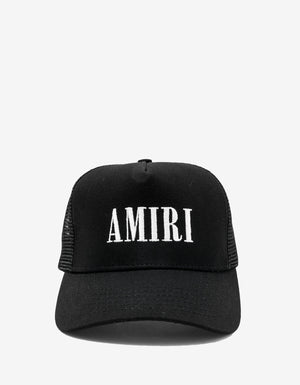 Black & White Amiri Core Trucker Hat