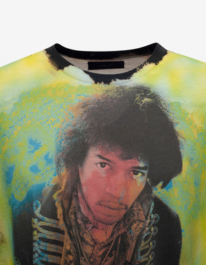 Bleached Jimi Hendrix Graphic T-Shirt