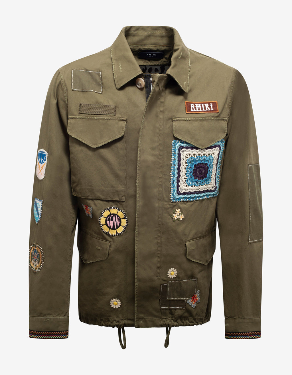 Green Brothers Military Short Parka Jacket