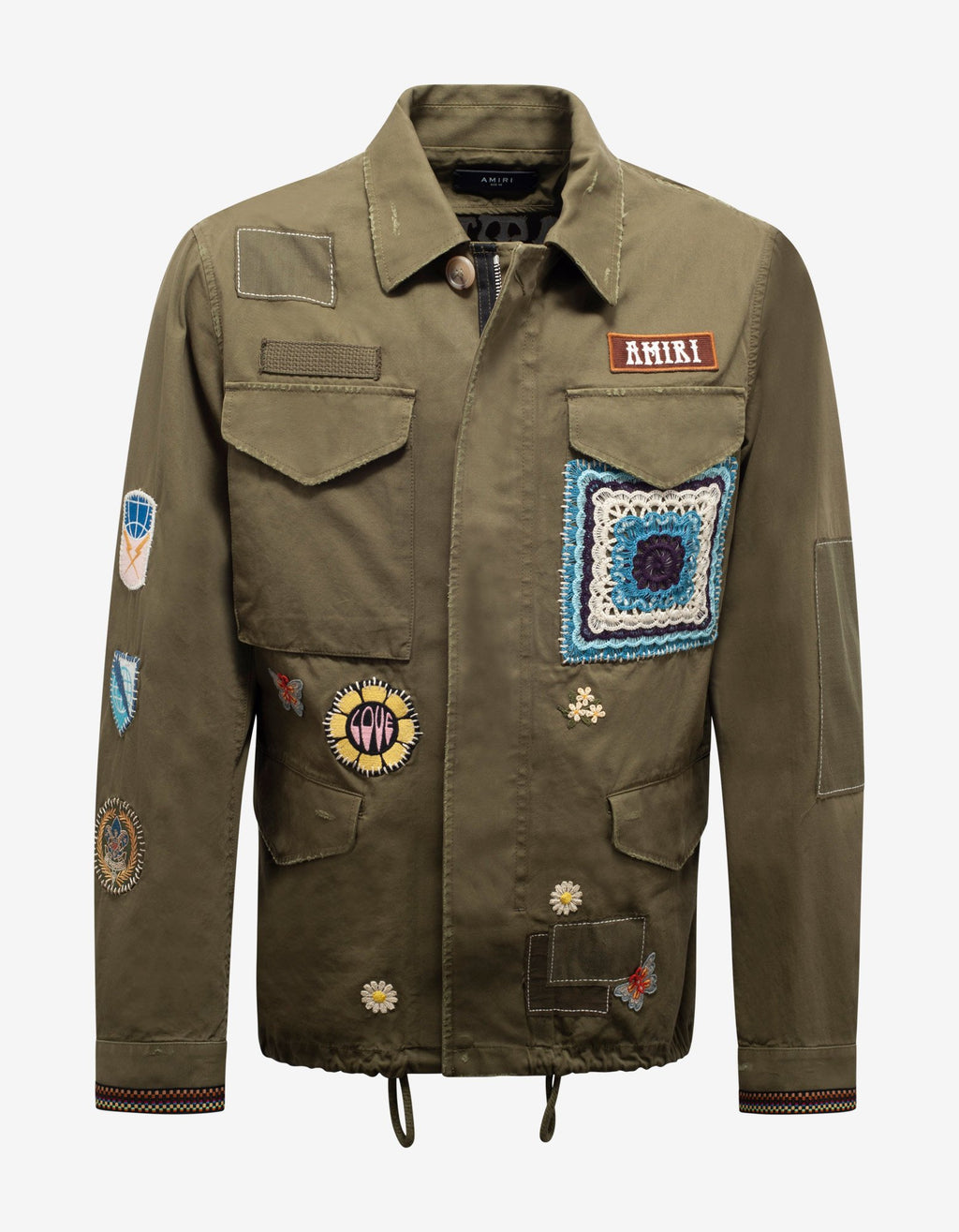Green Brothers Military Short Parka Jacket -