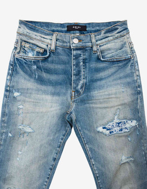 MX1 Leather Bandana Clay Indigo Jeans