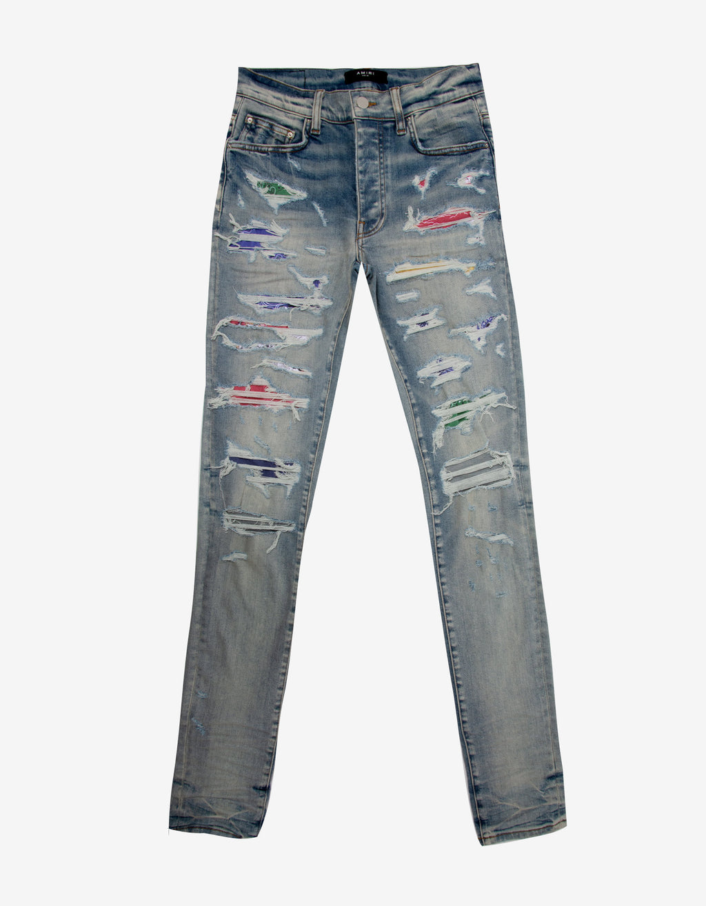 Rainbow Patch Clay Indigo Jeans