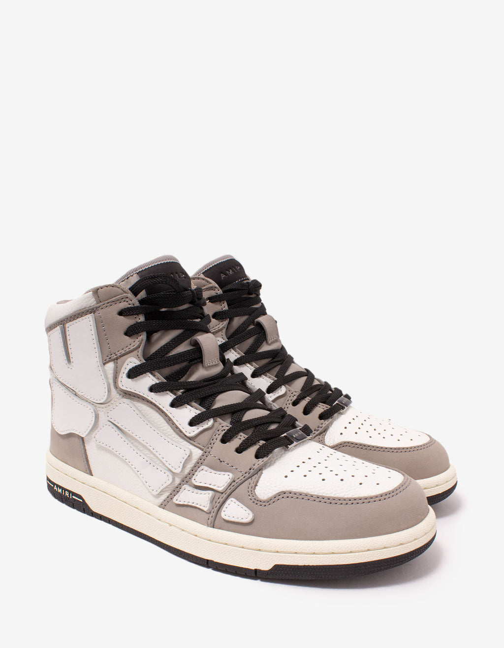 Skel Top Grey & White Trainers