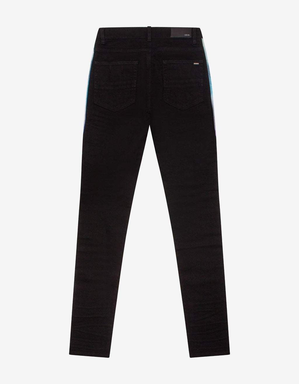 Watercolor Half Track Black Jeans -
