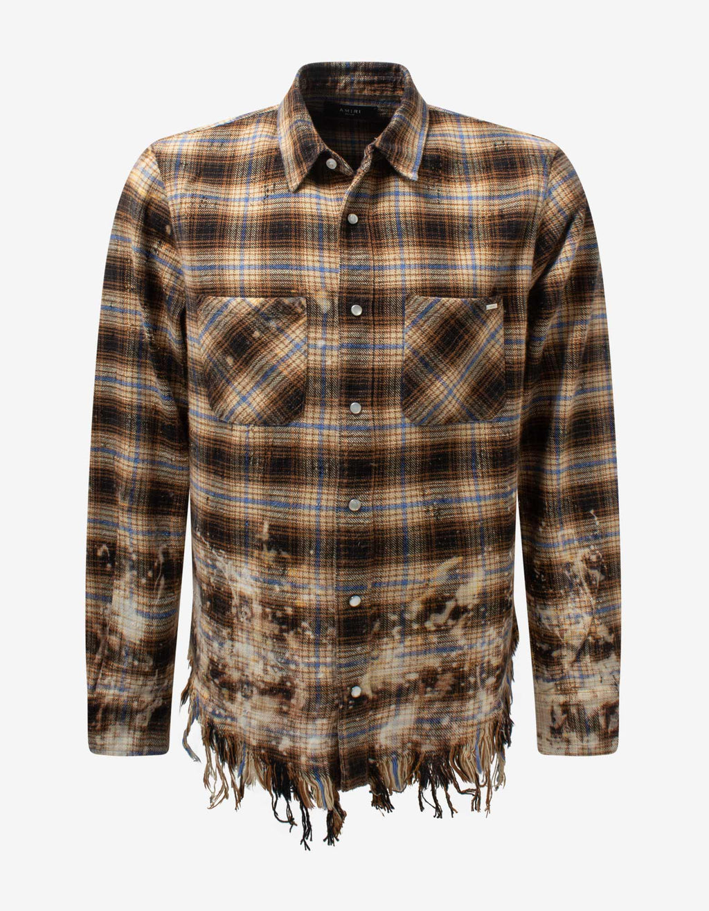 Yellow Bleached Flannel Shirt -