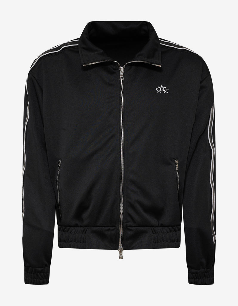 Black Knit Track Jacket