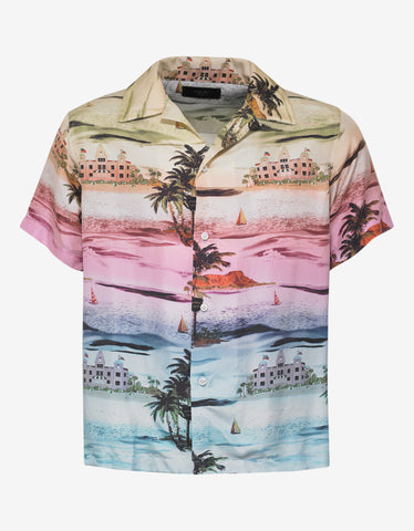 Amiri Beverly Hills Hawaiian Silk Shirt