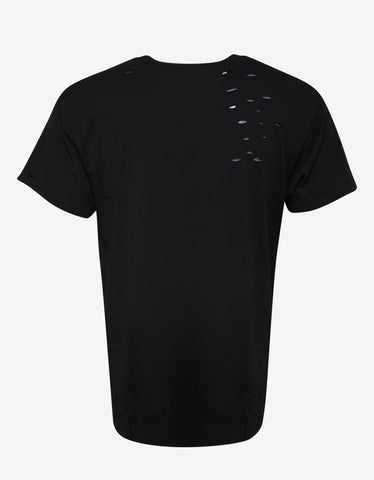 Amiri Black Amiri Team Print T-Shirt