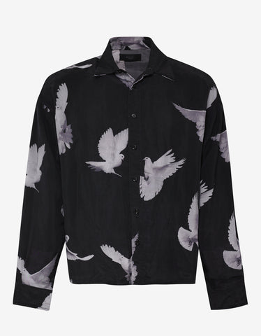 Amiri Black Dove Print Oversized Shirt