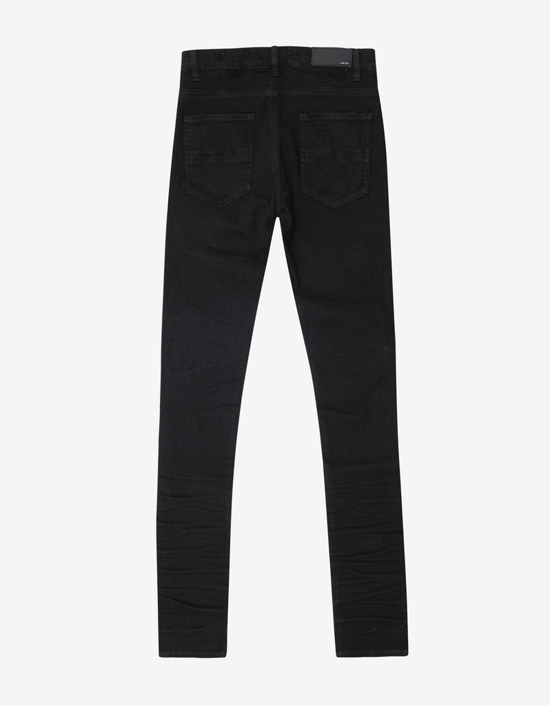 MX1 Patch Black Distressed Skinny Jeans