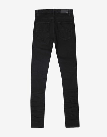 Amiri MX1 Patch Black Distressed Skinny Jeans