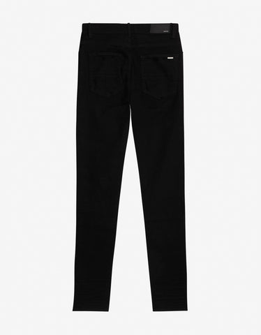 Amiri Black Music Note Patch Skinny Jeans