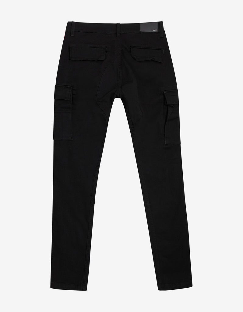 Black & Red Stack Track Cargo Trousers