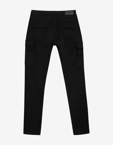 Amiri Black & Red Stack Track Cargo Trousers