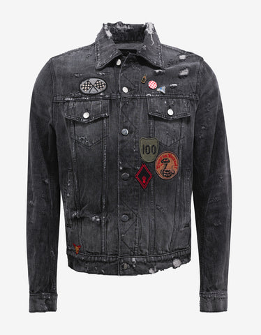 Amiri Concert Trucker Black Denim Jacket