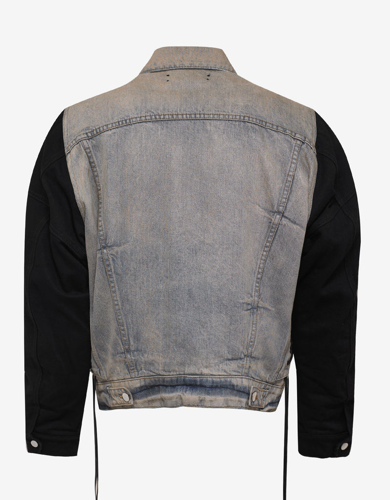 Two Tone Denim Trucker Jacket