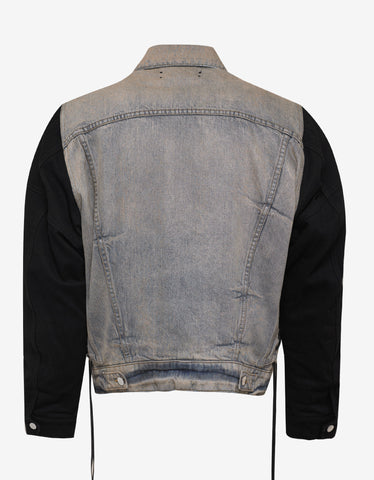 Amiri Two Tone Denim Trucker Jacket