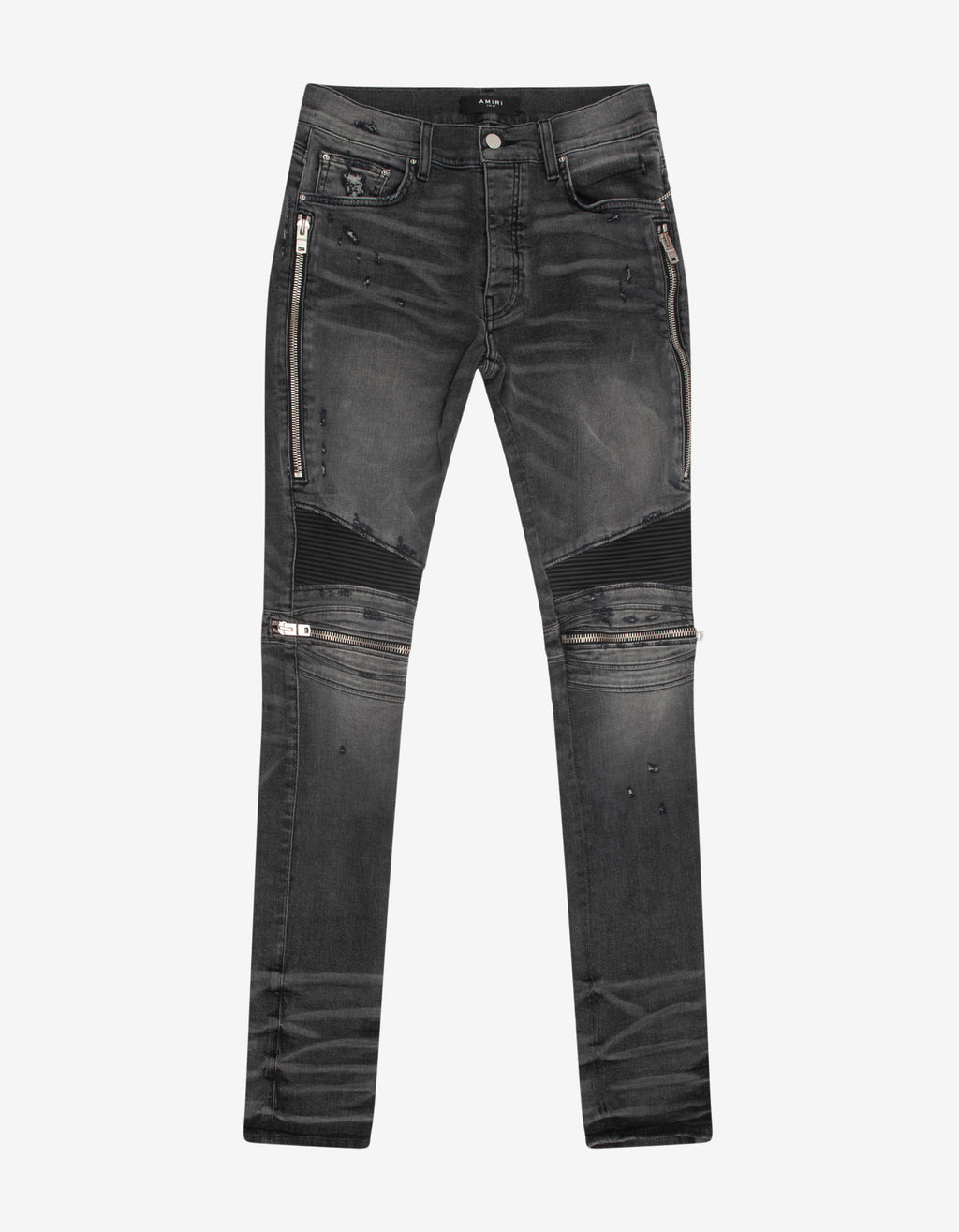 MX2 Faded Grey Leather Insert Skinny Jeans