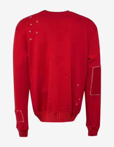 Amiri Red Alligator Embroidery Sweatshirt