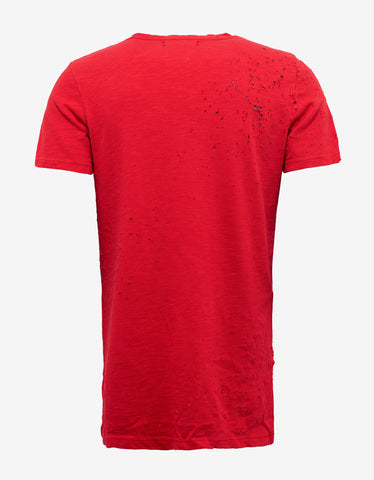 Amiri Red Shotgun T-Shirt